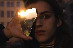 fraction (katt.jpg) Tags: light shadow portrait reflection girl mirror model play shadowplay brunette