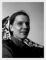 """Katja - 1945"" (photo_secessionist) Tags: portrait bw woman film analog 35mm blackwhite kodak hc110 ve bn soviet ww2 vintagecamera hp5 russian ilford 1939 reenactor cccp selfdeveloped leitz fakevintage leicaiiia  elmarf355cmlens victroyday"