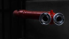 metal snake (edalgomezn78) Tags: chile santiago red abstract color art monochrome photography photo nikon flickr photos geometry snake monotone nikkor cinematic monocromatico d7000