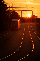 Nottingham tram at sunset... (Jonathan Casey) Tags: nottingham sunset nikon tram f2 vr 200mm d810