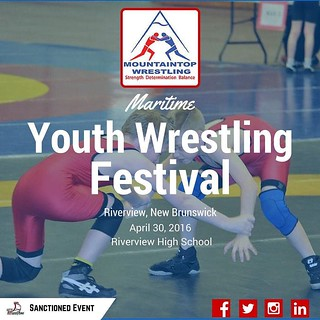 On April 30, the Mountaintop Wrestling Club will be host their annual Maritime Youth Wrestling Festival at Riverview High School in Riverview, New Brunswick! For more information please visit http://ift.tt/1OAFQ6U! #youthwrestling #wrestling #wrestle #wre
