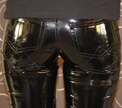 Vinyl pants (Plastic Fashion!) Tags: pvc vinyl plastic pants trousers fashion thermoplastic sexy tight shiny