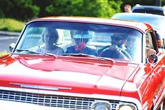Saturday Night Cruise No. 12 by Buzzing Bugs (Analog World Thru My Lenses) Tags: saturday night cruise buzzing bugs ricohxr7 pentacon4200 kodakektar100 classic cars oldtimer vintage warszawa may 2016