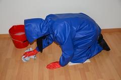 Scrubbing Floor (Warm Clothes Fetish) Tags: hot girl warm floor coat hijab torture sweat niqab maid anorak slave scrubbing burka chador
