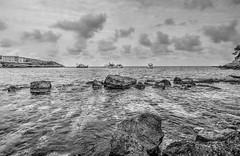 HDR St Elm B&N2 (Felipe Quetglas) Tags: hdr mallorca spain sea rocks clouds nubes cielo sky