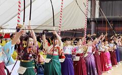 Pure Beauty (lilacandhoney) Tags: girls light portrait art colors beauty festival japan canon asian women scenery kyoto asia colours blossom hiver scene memory kimono asie archery moment printemps japon kyudo