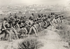 Soldiers training in California 1920s (sundogrr) Tags: california 1920s training outdoors military rifles hills soldiers guns weapons