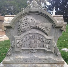 Rev. Levin Jenks, 1887 (Stewf) Tags: cemetery gravestone lettering serif slab sans 1880s mountainviewcemetery backslant curvedbaseline