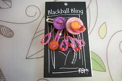 Blackball Bling Brooch (BlackballBling) Tags: original abstract necklace beads artist handmade brooch earrings etsy buynow bbbling blackballbling currantlyoddfellows