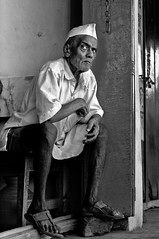 One more Cheroot for the Road (Anoop Negi) Tags: old travel portrait india white ma