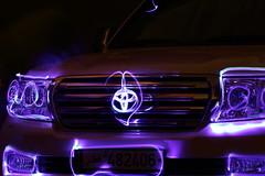 toyota  (a_almalki) Tags: light bulb canon painting mark g led 1d toyota iv qatar gx    gxr vxr            aalmalki