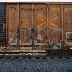 ABHOR (TRUE 2 DEATH) Tags: railroad train graffiti tag graf trains railcar boxcar railways railfan freight kuk abhor freighttrain rollingstock benching freighttraingraffiti