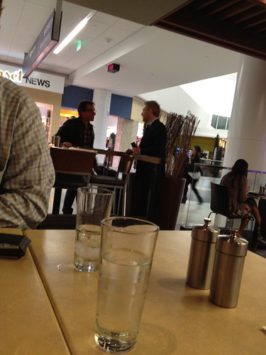 Drinks with Kenneth Branagh at SFO