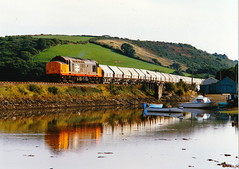 37674 at golant (47604) Tags: wagon cornwall redstripe wagons hoods chinaclay englishelectric golant class37 37169 37674 alltypesoftransport