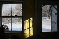 Newport, NS (Avard Woolaver) Tags: life door winter light shadow sunlight snow canada colour window topf25 yellow wall brooklyn photo flickr novascotia image interior explore newport creativecommons windowview canondslr outlet 2012 digitalimage hantscounty williameggleston contemporarylandscape sociallandscape mar22 conceptualphotograph topf25faves canoneos60d avardwoolaver avardwoolaverphoto shoteatshot