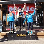 Panorama Miele Cup Spring Series Overall Podium GS Day 2 - 1. Kelly McBroom; 2. Tess Davies; 3. Victoria Michalik; PHOTO CREDIT: Gregor Druzina