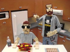Epic Meal Time - Lego Edition! (Ochre Jelly) Tags: canada cooking muscles breakfast jack glasses bacon lego time harley meal daniels jd jackdaniels epic strips moc haters afol youtube sawce epicmealtime morenstein