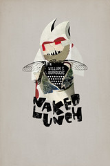 naked lunch (masterview_) Tags: monster collage illustration lunch book burroughs cover bookcover nakedlunch williamburroughs masterview