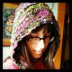 handspun pixie hoods... (pumpkinhaus) Tags: handknit pixie hood handspun helmethat