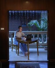 Self Portrait (jarvisphotography) Tags: blue jeff rain thailand moody monsoon jarvis totally strobist totallythailand