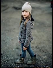 pola (apasz) Tags: 2002 film girl kids zeiss kid expired rubberboots gumboots planar 802 contax645 kodakportra400nc zeissplanar280