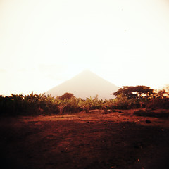 (red white and you) Tags: red orange 120 film yellow mediumformat holga xpro crossprocessed nicaragua ometepe fujivelvia100f volcanconcepcion