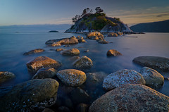 Whytcliff B.C. (Alan Drake) Tags: sunset sky canada beach water island rocks britishcolumbia