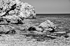 "Beach in B&W -  Lo Zingaro, Sicily • <a style=""font-size:0.8em;"" href=""http://www.flickr.com/photos/40100768@N02/7176823925/"" target=""_blank"">View on Flickr</a>"