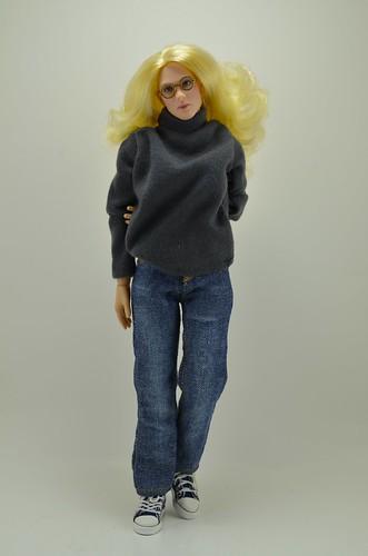 woman sneakers canvas jeans converse ttl turtleneck 16scale femaleactionfigure triadtoys