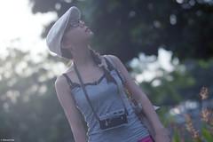 Eleanor (The91) Tags: camera leica light sun color film hat dc singapore dof skin bokeh young negative flare nikkor eleanor portra m2 fm3a wy 160 105mm nikonfm3a kodakportra160 nikkoraf105mmf2ddc