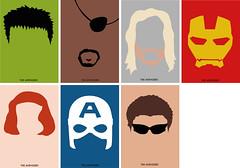 Minimalist Avengers Posters (SarahLouiseLong) Tags: film comics movie poster design graphicdesign ironman hero superhero hawkeye illustrator blackwidow hulk thor captainamerica vector minimalist avengers thehulk nickfury theavengers