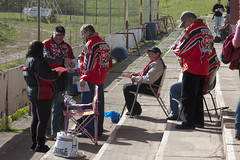 Stoke Supporters (Richard Amor Allan) Tags: bike mud bikes cycle stokeontrent fans rider supporters speedway cycles riders motorcyles scunthorpesaints stokepotters loomerroad