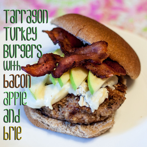 Tarragon Turkey Burgers with Brie and Apple