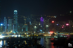 HK Night :: YMT Typhoon Shelter (hk_bellchan) Tags: hk west night skyscraper buildings hongkong lights neon view harbour central victoria tai shelter  kowloon icc  ifc typhoon tsui kok westkowloon bankofchina yaumatei boc   tkt neonlamp   typhoonshelter