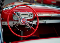 red steering wheel (try...error) Tags: vienna wien leica summer hot classic chevrolet belair beautiful car wheel us driving open steering air wide meeting m8 oldtimer bel summilux nite scs collectable 2012 lenkrad uscar 1435