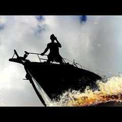 Screaming down the Dismal Swamp (peretzp) Tags: sky reflection leave water clouds river square mirror boat leaf wake tea lock decay mirrors rope line bow squareformat anchor sail drips hull peretz drummond iphone tannicacid lakedrummond iphoneography instagramapp uploaded:by=instagram