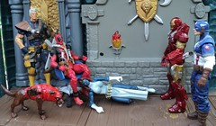 Deadpool's Thrown Room (ToyPhotos) Tags: man toy star iron cobra action earth nick battle joe darth empire figure batman imperial wars vader marvel fury gi galactic riddick deadpool