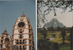 """""""failed film"""" or """"the tower of 'ISKCON' stands tall over the nation of India, over every valley and every lotus flower"""" (Bindaas High) Tags: india flower tower film analog 35mm temple lomo lomography diptych yeah lotus awesome failure explore stellar mywork analogue firstroll newdelhi lotustemple fever fail lotusflower iskcon diptico sooc wootwoot twoisbetterthanone dipticos artistsontumblr ahhhhiamsofrustratedrightnowphaha photographersontumblr bindaashigh"""