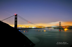 The Lady in Black - Golden Gate Bridge 75th Anniversary (Darvin Atkeson) Tags: ocean sanfrancisco california bridge color tower silhouette skyline rainbow pacific suspension fireworks anniversary 4th july celebration goldengatebridge coittower baybridge bayarea sanfranciscobay transamerica 75th marinheadlands darvin atkeson darv lynneal liquidmooonlightcom