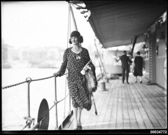 Donna Adelaide Grossardi posing on the deck of HNLMS JAVA, 10 October 1930 (Australian National Maritime Museum on The Commons) Tags: woman dutch vintage sydneyharbour sydneyharbourbridge vintageclothing foxfur 1920sfashion vintagefashion dutchnavy 1930sfashion vintagehats harbourscenes navalvessel royalnetherlandsnavy 1920sclothing 1930sclothing hnlmsderuyter westcircularquay hnlmsjava samueljhoodcollection thekoninklijkemarine hnlmseversten dutchnavyvisittosydney rearadmiralcckayser donnaadelaidegrossardi antoniogrossardi adriennegrossardi italianconsulgeneral