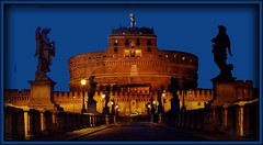 Castel Sant'Angelo in the blue hour (jackfre2) Tags: bridge rome roma night statues prison bluehour fortress castelsantagelo mygearandme ringexcellence dblringexcellence flickrstruereflection1