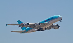Korean Air A380-800 (Justin Kane) Tags: airplane los airport angeles aircraft jet international commercial airline airbus a380 lax airliner a380800 a388 hl7615