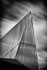 360|365 Imperial War Museum North; Salford Quays; Daniel Libeskind (PeterChinnock) Tags: cloud white abstract black detail museum architecture project manchester movement war long exposure day north 360 imperial 365 salford quays peterchinnock