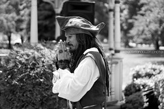 Captain Jack Sparrow arrives in Milford (kaylarandolphphoto) Tags: white black jack photography day sparrow pirate captain johnny milford depp kayla arrives randolph