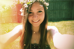 74/365 (itsmeganduhh) Tags: flowers summer smile outside outdoors eyes lightleak colton kit 365 ligh rabon tleak coltonrabon lightleakkit itsmeganduhh