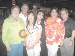 Iliana Cabrera, Marti Miller, Chuy Negrete, Estrella Negrete, Cynthia Sakulenzki y Aarón Cabrera