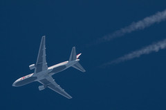 ABX Air Boeing 767-232 N744AX (Thames Air) Tags: abx air boeing 767232 n744ax contrails telescope dobsonian overhead vapour trail