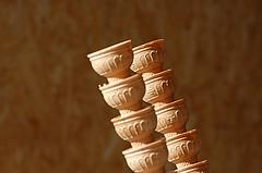 Cones (on Explore) (Jan van der Wolf) Tags: monochrome dof cone bokeh repetition minimalism less icecreamcones lessismore monochroom minimalisme herhaling scherptediepte ijshoorntjes map66