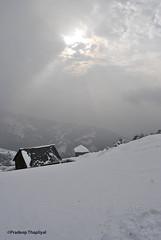 _DSC1366 (Pradeep Thapliyal) Tags: india house mountain snow ice weather silhouette outdoor hill snowstorm snowfall himachal bir snowhouse badweather hillstation pradesh himachalpradesh pragliding biling sunbehindcloud walkingonsnow birbiling