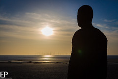 Crosby beach Iron Men (Ellison Photography / Madison Picture) Tags: sunset men beach liverpool iron nick ellison crosby merseyside
